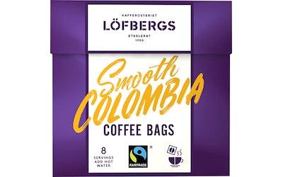 Löfbergs Smooth Colombia coffee bag 8kpl