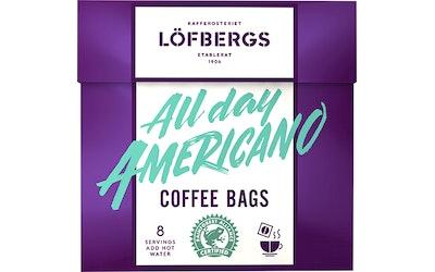 Löfbergs All Day Americano coffee bag 8 kpl