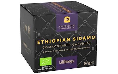 Löfbergs Ethiopian Sidamo espresso 10 kapselia 57g luomu