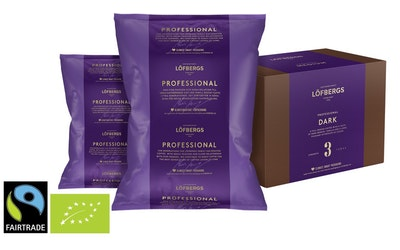 Löfbergs Professionell Dark Luomu Reilun kaupan 60x100g kahvi puolikarkeajauhatus 1,5