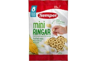 Semper 20 g Miniringar Puffat majs Maissinaksuja alkaen 8 kk
