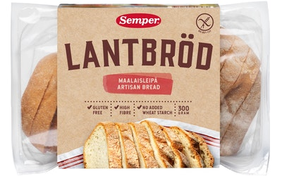 Semper viipaloitu maalaisleipä 300g gluteeniton