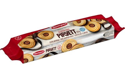 Semper Piruett Suklaanmakuinen täytekeksi 110g gluteeniton