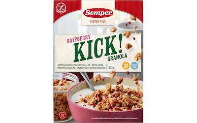Semper Kick! Kauramuromysli Vadelma 375g gluteeniton