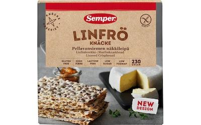 Semper 230g Pellavansiemen näkkileipä, gluteeniton