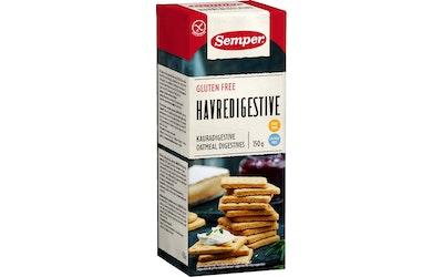 Semper Kaura Digestive -keksit 150g gluteeniton