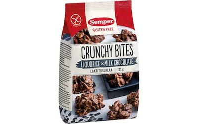 Semper Crunchy Bites 125g lakritsi & suklaa gluteeniton