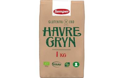 Semper 1kg luomu kaurahiutaleet gluteeniton