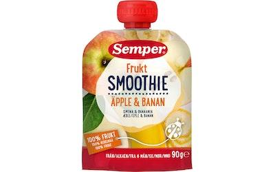 Semper Frukt Smoothie Omenaa ja baania 90g alkaen 6 kk lasten hedelmäsose