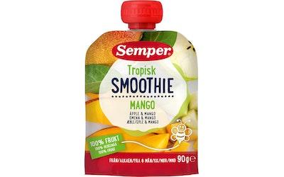 Semper Smoothie Tropisk Omenaa ja mangoa 90g alkaen 6 kk lasten hedelmäsose