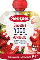 Semper smoothie 6kk 90g banaani mansikka jogurtti