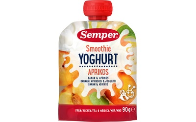 Semper smoothie 6kk 90g banaani-aprikoosi jogurtti