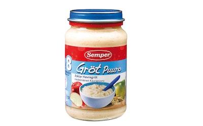 Semper Kaurapuuro, jogurttia, omenaa ja päärynää 190g alk 8 kk käyttövalmis lastenpuuro