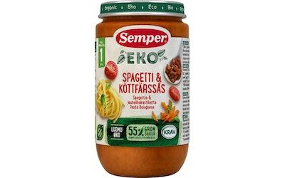 Semper EKO Pastaa ja jauhelihakastiketta alkaen 1 v luomuateria 235g