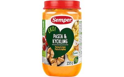 Semper EKO Pastarenkaita, kanaa ja vihanneksia alkaen 1 v luomuateria 235g