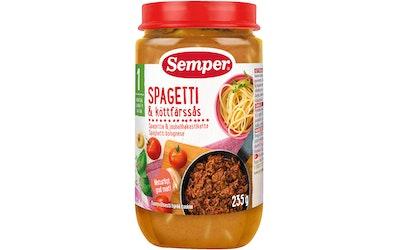 Semper Spagettia & jauhelihakastiketta 235g 1v