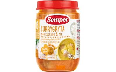 Semper 6kk Currypata kana&riisi 190g