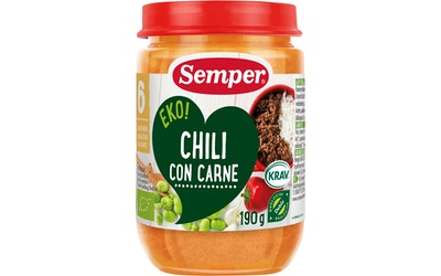 Semper EKO chili con carne 190g alkaen 6kk luomu