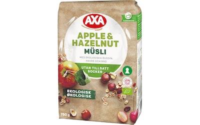 AXA apple & hazelnut mysli 750g hedelmä & pähkinä luomu