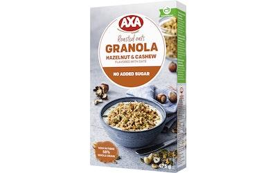 Axa Granola 475g hasselpähkinä cashew