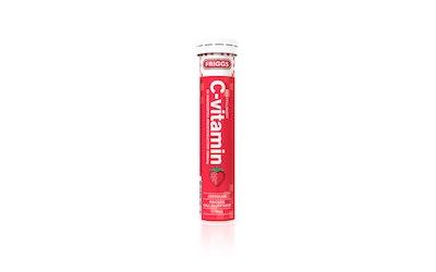Friggs C-vitamiini poretabletti 20kpl 80g mansikka