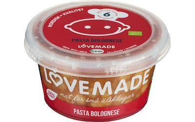 Lovemade pasta bolognese 180g 6kk luomu