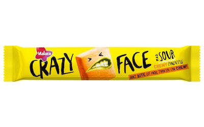 Malaco Crazy Face 34g Sour Pineapple
