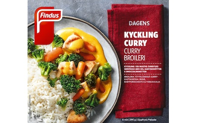 Findus Dagens Curry Broilerinfilee 390 g