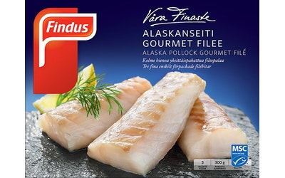 Findus Alaskanseiti Gourmet Filee 300 g MSC