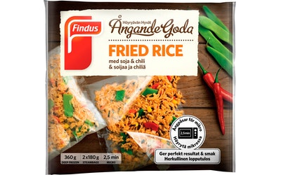 Findus Höyryävän fried rice pakaste 360g