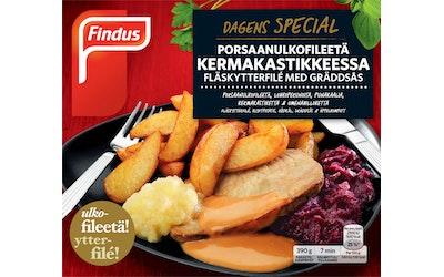 Findus Dagens Special 390g porsaanfileetä kermakastikkeess