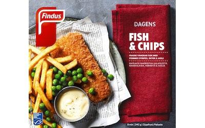 Findus Dagens 340g fish&chips MSC pakaste