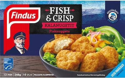 Findus Fish & Crisp kalanuggetit MSC 245g pakaste