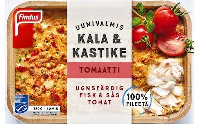 Findus uunivalmis kala & kastike tomaatti 380g MSC pakaste