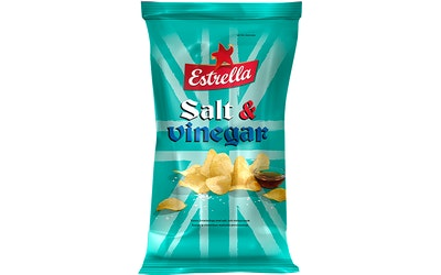 Estrella perunalastu 40g salt & vinegar