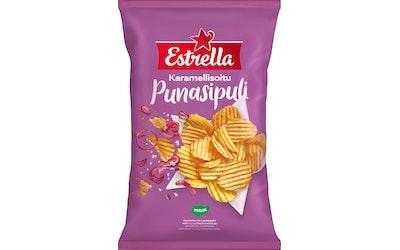 Estrella 275g Karamellisoitu Punasipuli Chips