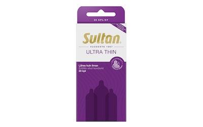 Sultan kondomi 20kpl Ultra Thin superohut tuoksuton