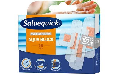 Salvequick laastari 16kpl Aqua Block