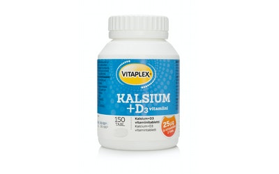 Vitaplex 150kpl Kalsium + D3 -vitamiinitabletti