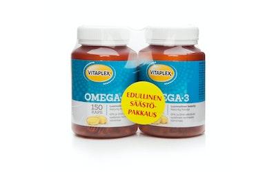 Vitaplex Omega-3 2x150kaps tuplapakkaus