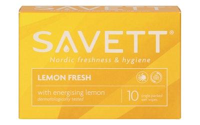 Savett 10kpl Lemon kosteuspyyhe