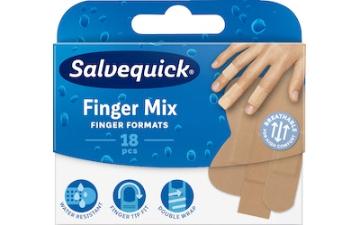 Salvequick 18kpl Finger Mix laastari