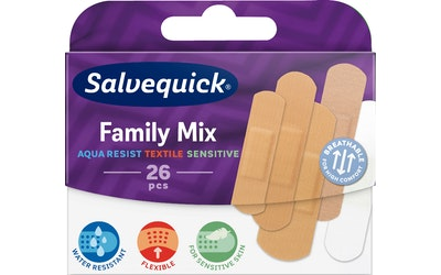 Salvequick laastari 26kpl FamilyMix