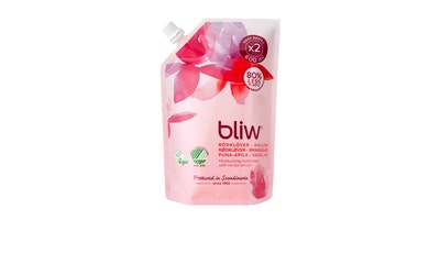 Bliw nestesaippua 600ml Puna-apila-vadelma täyttöpakkaus