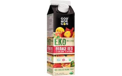 God Morgon® Luomu appelsiini-veriappelsiinitäysmehu 1 L