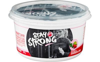 Stay Strong Skyr 500g mansikka-lime - kuva
