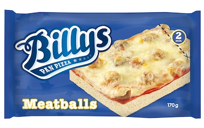 Billy's pan pizza 170g meatballs