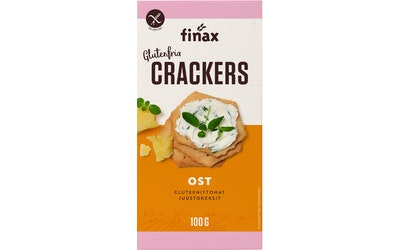 Finax Gluteeniton Cheese Crackers 100 g