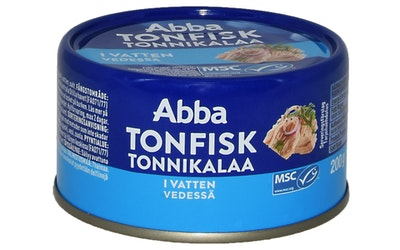 Abba tonnikalaa 200/150g  vedessä MSC