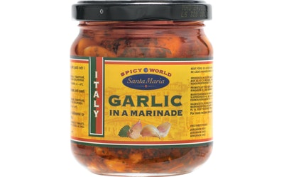 Santa Maria Spicy World Garlic in a Marinade 210/140g marinoitu valkosipuli